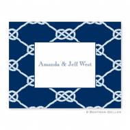 Nautical Knot Navy Foldover Note