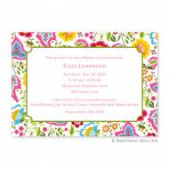 Bright Floral Large Flat Card Invitation