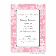 Chinoiserie Pink Flat Card Invitation