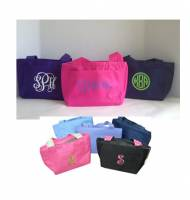 Monogrammed Lunch Totes   Our Best Selling Lunch Box  8 Colors In Stock