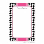 Alex Houndstooth Black Notepad