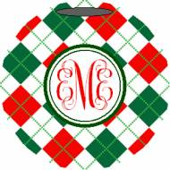 Lovie And Dodge Personalized Ornament Arglye
