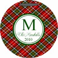 Lovie And Dodge Personalized Ornament Traditional Plaid