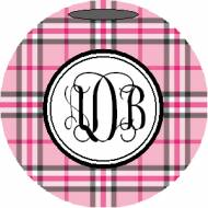 Lovie And Dodge Personalized Ornament DB Plaid