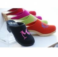 Monogrammed  Wool Or Leather Clogs From The Pink Monogram Hot New Colors
