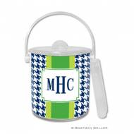Alex Houndstooth Navy Ice Bucket