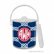 Nautical Knot Navy Ice Bucket