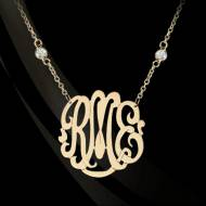 Interlocking Monogrammed Neck On A CZ Chain Now In Five Great Sizes!