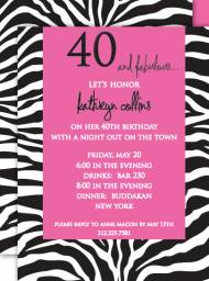 Zebra Invitation