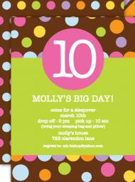 Molly's Dots Invitation