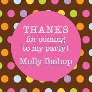 "Molly's Dots 3 X 3"" Stickers"