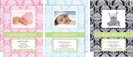 M. Middleton Damask Birth Announcements