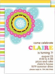 Flower Pop Invitation