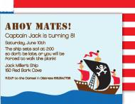 Ahoy Mates Invitation