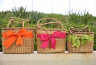 Queen Bea Ribbon Basket In 3 Sizes- You Get All Three Sizes!
