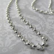 Sterling Silver Rolo Chain In Three Lengths For Pendants And Charms