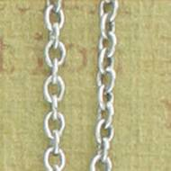 Antique Silver 1.2mm Cable Chain In Four Lengths For Pendants And Charms