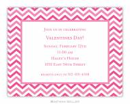 Chevron Valentine Small Invitation