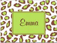 Leopard Lime Box Folded Notecard