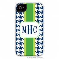Alex Houndstooth Navy Cell Phone Case