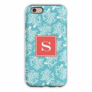 Coral Repeat Teal Cell Phone Case