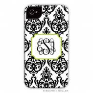 Madison Damask Black Cell Phone Case