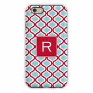 Kate Red & Teal Cell Phone Case