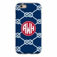 Nautical Knot Navy Cell Phone Case