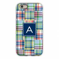 Madras Patch Blue Cell Phone Case