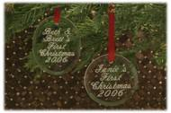 Engraved Christmas Ornaments- Oval Or Round