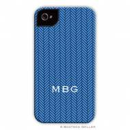 Herringbone Blue Cell Phone Case