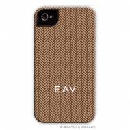Herringbone Brown Cell Phone Case