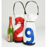 Personalized Ella Vickers Sailcloth Wine Bag