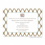 Bamboo Brown & Slate Invitation