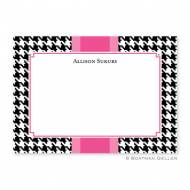 Alex Houndstooth Black Flat Card