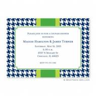 Alex Houndstooth Navy Flat Card Invitation