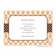 Beti Orange Flat Card Invitation