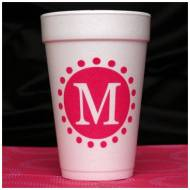 City Lights Foam Initial Cups-Set Of 30