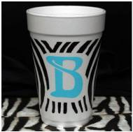Safari Zebra Foam Initial Cups-Set Of 30