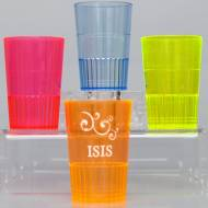 1.5 Oz Personalized Neon Hard Plastic Shot Glasses