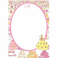 Lilly Pulitzer Personalized Correspondence Card Let Them Eat Cake
