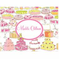 Lilly Pulitzer Personalized Foldover Note Let Them Eat Cake