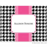 Alex Houndstooth Black Foldover Notes