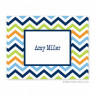 Chevron Blue, Orange & Lime Foldover Notes