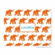 Elephants Orange Foldover Notes
