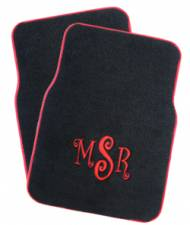 Monogrammed Car Mats - Rear-Wheel Drive Cars
