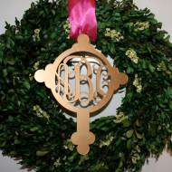 Monogrammed Acrylic Cross Ornament