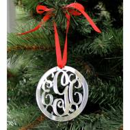 Personalized Acrylic Monogram Ornament
