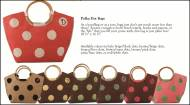 Discontinued - New Polka Dot Jute Bags- So Many Color Choices