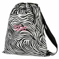 Discontinued - Monogrammed Zebra Lined Drawstring Bag